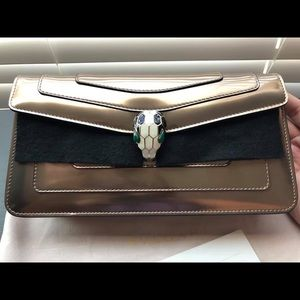 BVLGARI Serpenti Forever Clutch with Chain